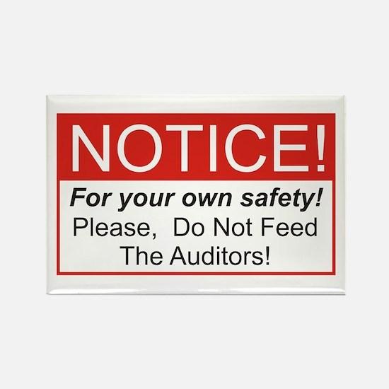 Notice / Auditors Rectangle Magnet