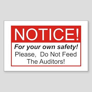 Notice / Auditors Rectangle Sticker