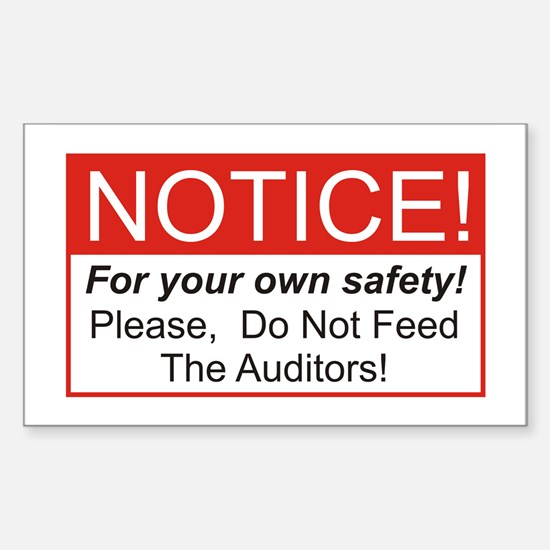Notice / Auditors Rectangle Decal
