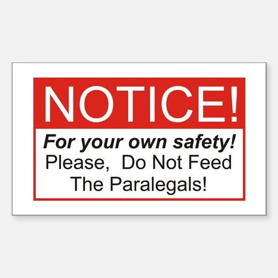 Notice / Paralegals Rectangle Decal