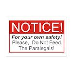 Notice / Paralegals Mini Poster Print