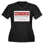 Notice / Paralegals Women's Plus Size V-Neck Dark