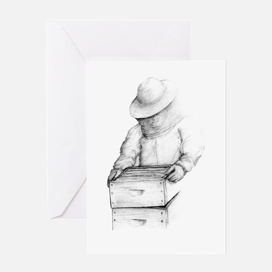 The Bee Keeper Greeting Card