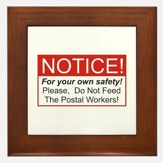 Notice / Postal Workers Framed Tile