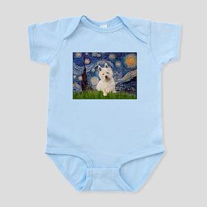Starry Night/Westie Infant Bodysuit