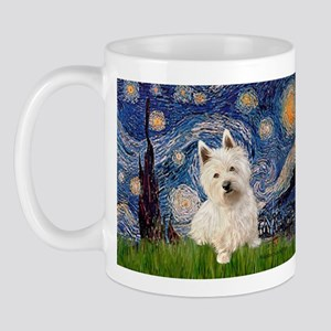 Starry Night/Westie Mug