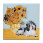 Sunflowers/PBGV Tile Coaster