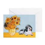 Sunflowers/PBGV Greeting Cards (Pk of 20)