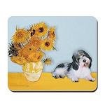 Sunflowers/PBGV Mousepad