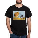 Sunflowers/PBGV Dark T-Shirt