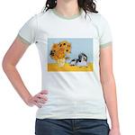 Sunflowers/PBGV Jr. Ringer T-Shirt
