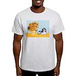 Sunflowers/PBGV Light T-Shirt