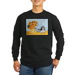 Sunflowers/PBGV Long Sleeve Dark T-Shirt
