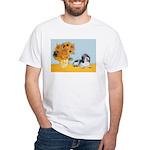 Sunflowers/PBGV White T-Shirt