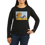 Sunflowers/PBGV Women's Long Sleeve Dark T-Shirt