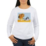 Sunflowers/PBGV Women's Long Sleeve T-Shirt