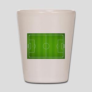 Soccer field Shot Glass