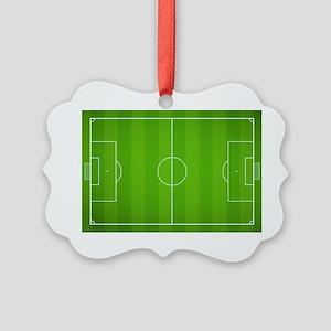 Soccer field Picture Ornament