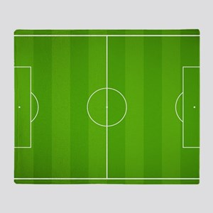 Soccer field Throw Blanket