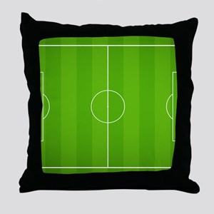 Soccer field Throw Pillow