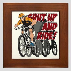 Shut Up and Ride Bike Framed Tile