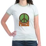 Peace Sign Jr. Ringer T-shirt