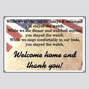 """""""Welcome Home"""" Banner"""