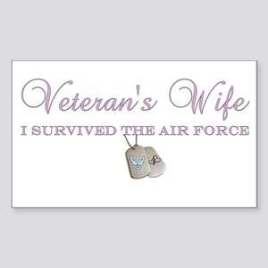 I Survived The Air Force Rectangle Sticker