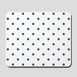 Dusky Blue Small Polka Dots (Reverse) Mousepad