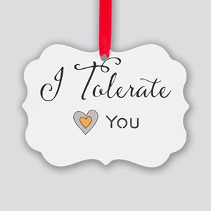 I Tolerate You Picture Ornament