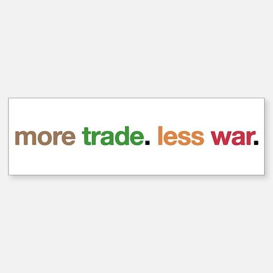 More Trade, Less War Bumper Bumper Bumper Sticker