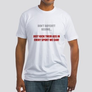 Don't Boycott China Fitted T-Shirt