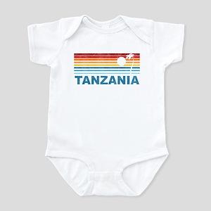Retro Palm Tree Tanzania Infant Bodysuit
