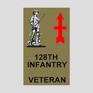 128th Infantry <BR>Veteran Sticker