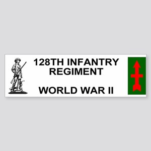 128th Infantry <BR>WWII Veteran Bumper Sticker