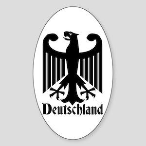 Deutschland - Germany National Symbol Sticker (Ova
