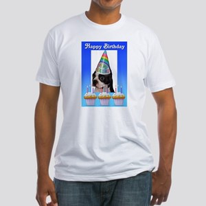HAPPY BIRTHDAY DOG Fitted T-Shirt