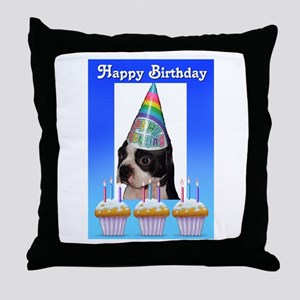 HAPPY BIRTHDAY DOG Throw Pillow