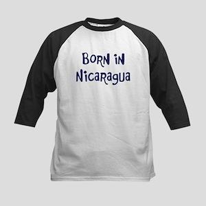 Born in Nicaragua Kids Baseball Jersey