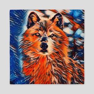Brave Wolf Wildlife Queen Duvet