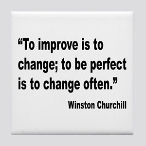 Churchill Perfect Change Quote Tile Coaster