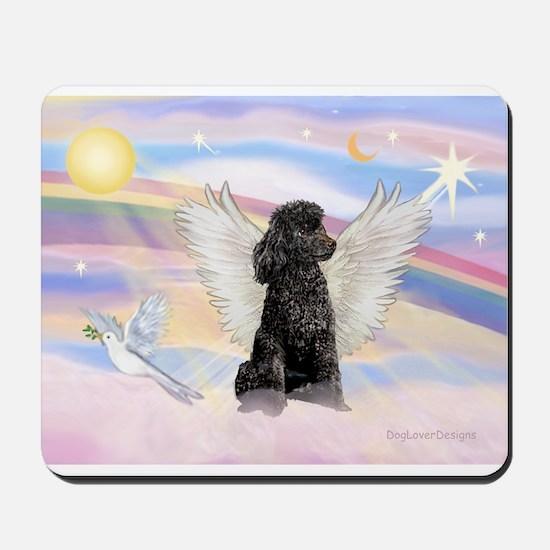 Angel/Poodle(blk Toy/Min) Mousepad