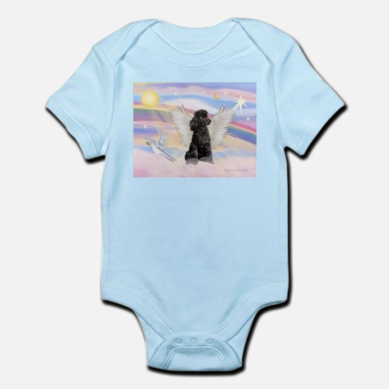 Angel/Poodle(blk Toy/Min) Infant Bodysuit