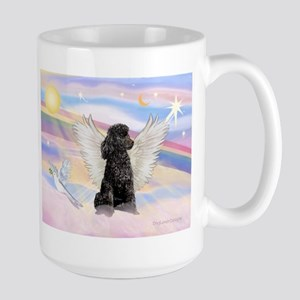 Angel/Poodle(blk Toy/Min) Large Mug