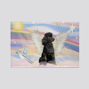 Angel/Poodle(blk Toy/Min) Rectangle Magnet