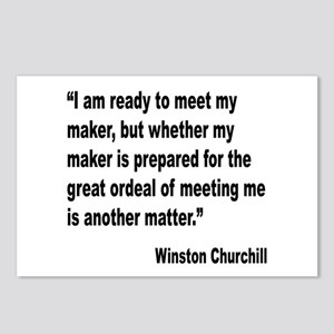 Churchill Maker Quote Postcards (Package of 8)