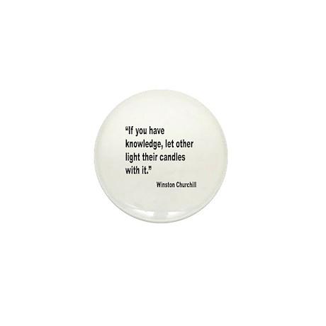 Churchill Knowledge Quote Mini Button (10 pack)