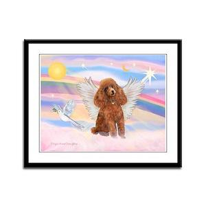 Angel/Poodle (apricot Toy/Min) Framed Panel Print