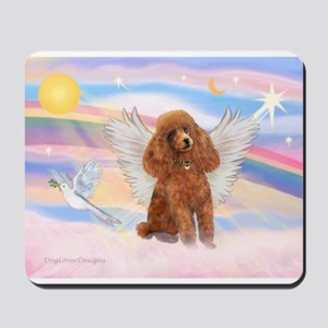 Angel/Poodle (apricot Toy/Min) Mousepad