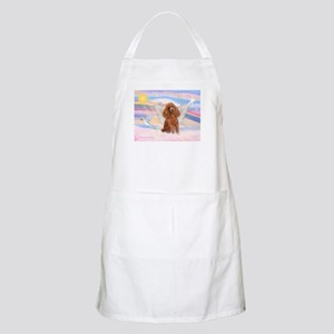 Angel/Poodle (apricot Toy/Min) BBQ Apron